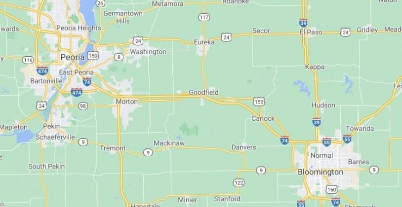Peoria, IL map